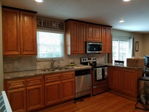 Kitchen before painting cabinets