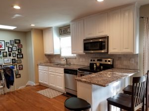 Kitchen after painting cabinets