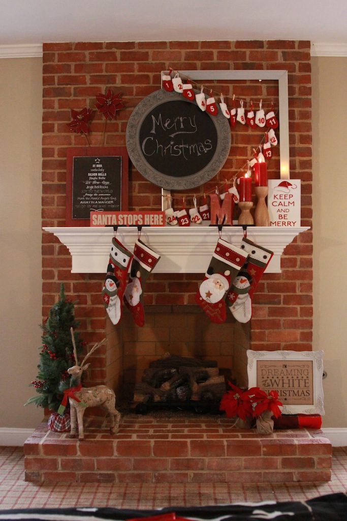 rustic-fireplace-styling-for-Christmas