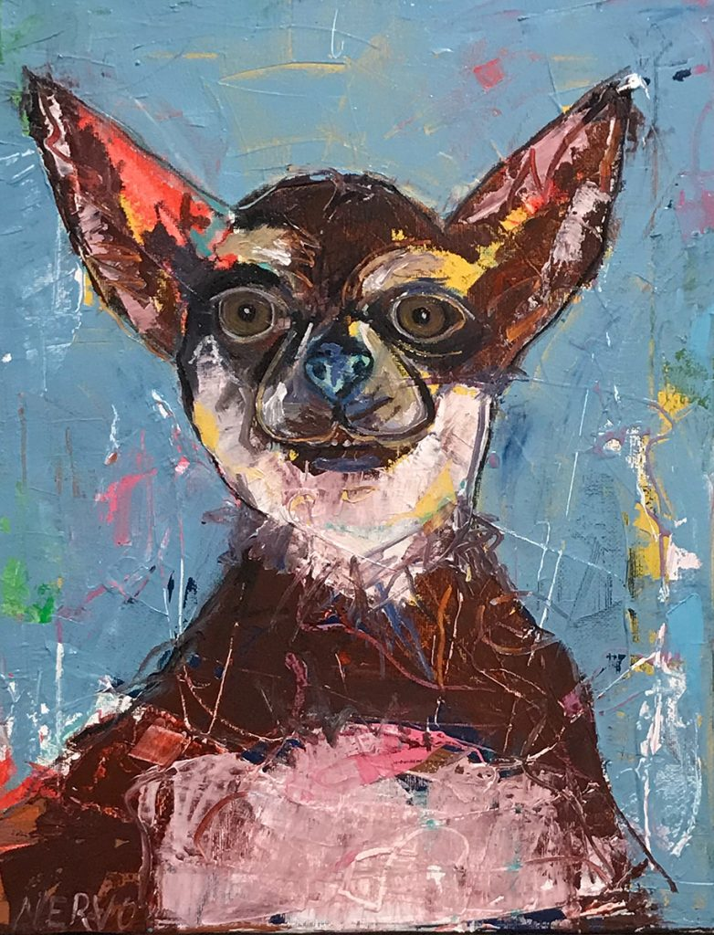 Jamie Nervo dog painting