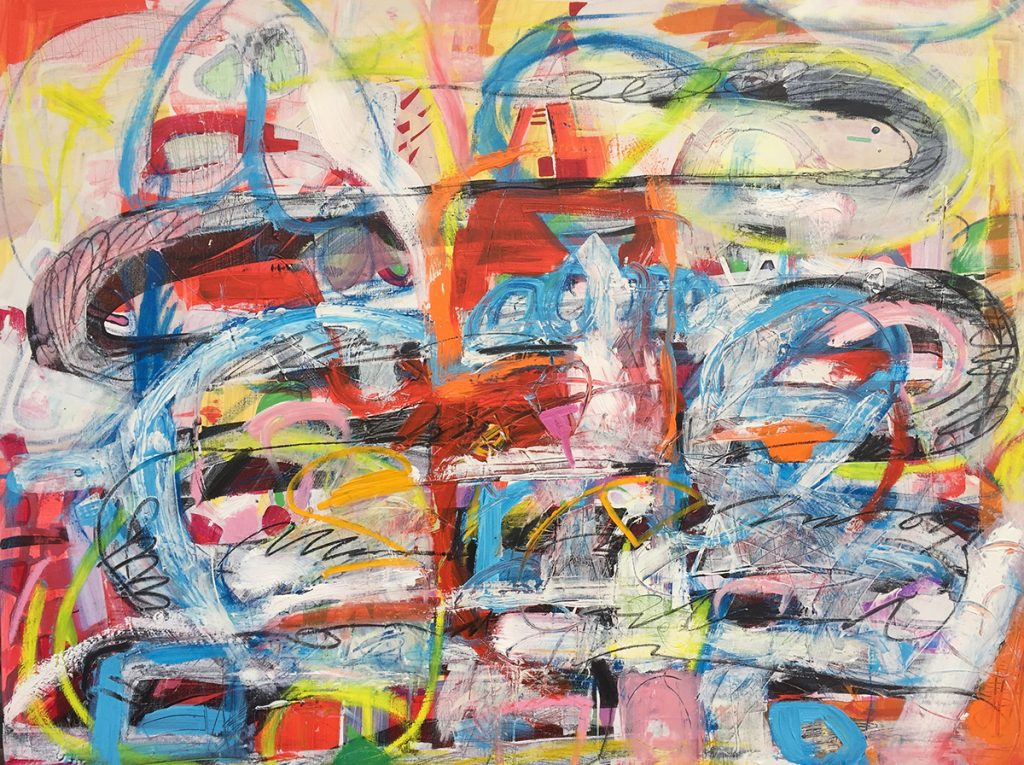 Jamie Nervo abstract painting