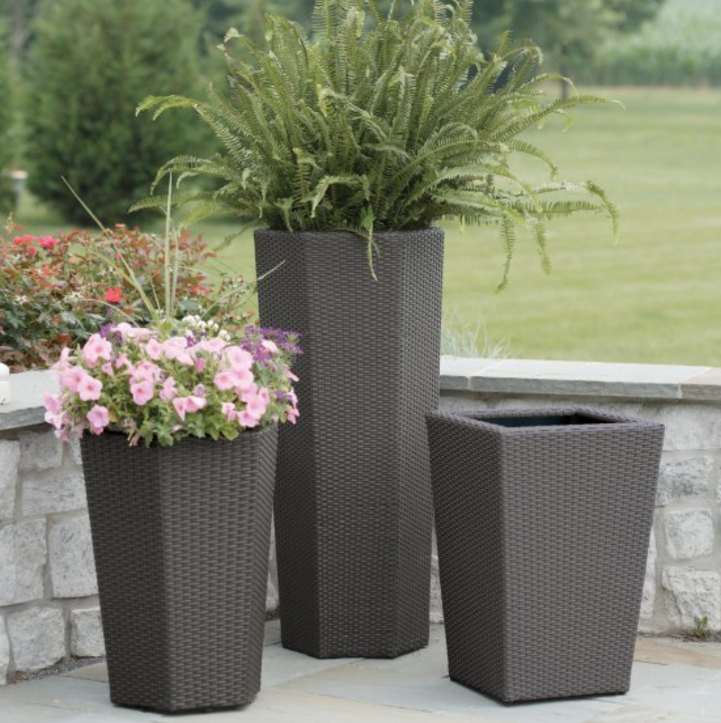 hexagonal tall planters