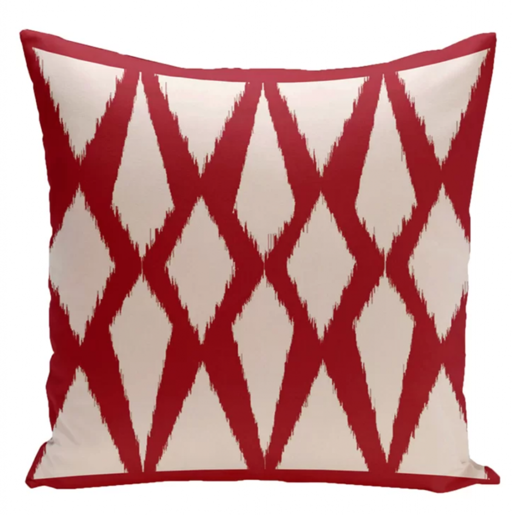 geometric outdoor throw pillow