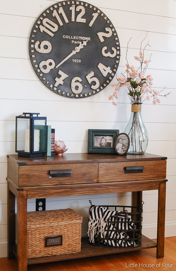 storage on spring console table