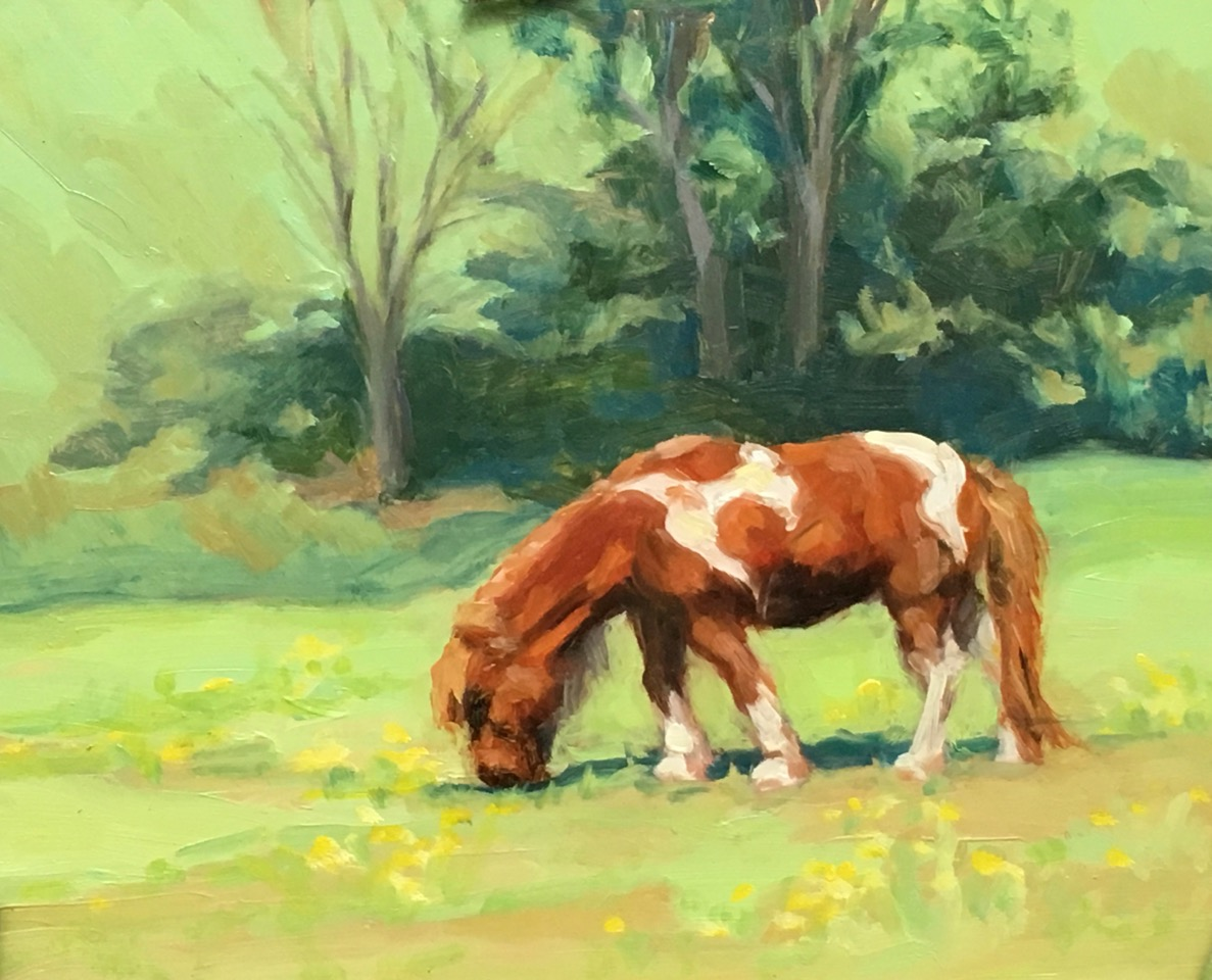 Nan Mahone Wellborn, horse painting
