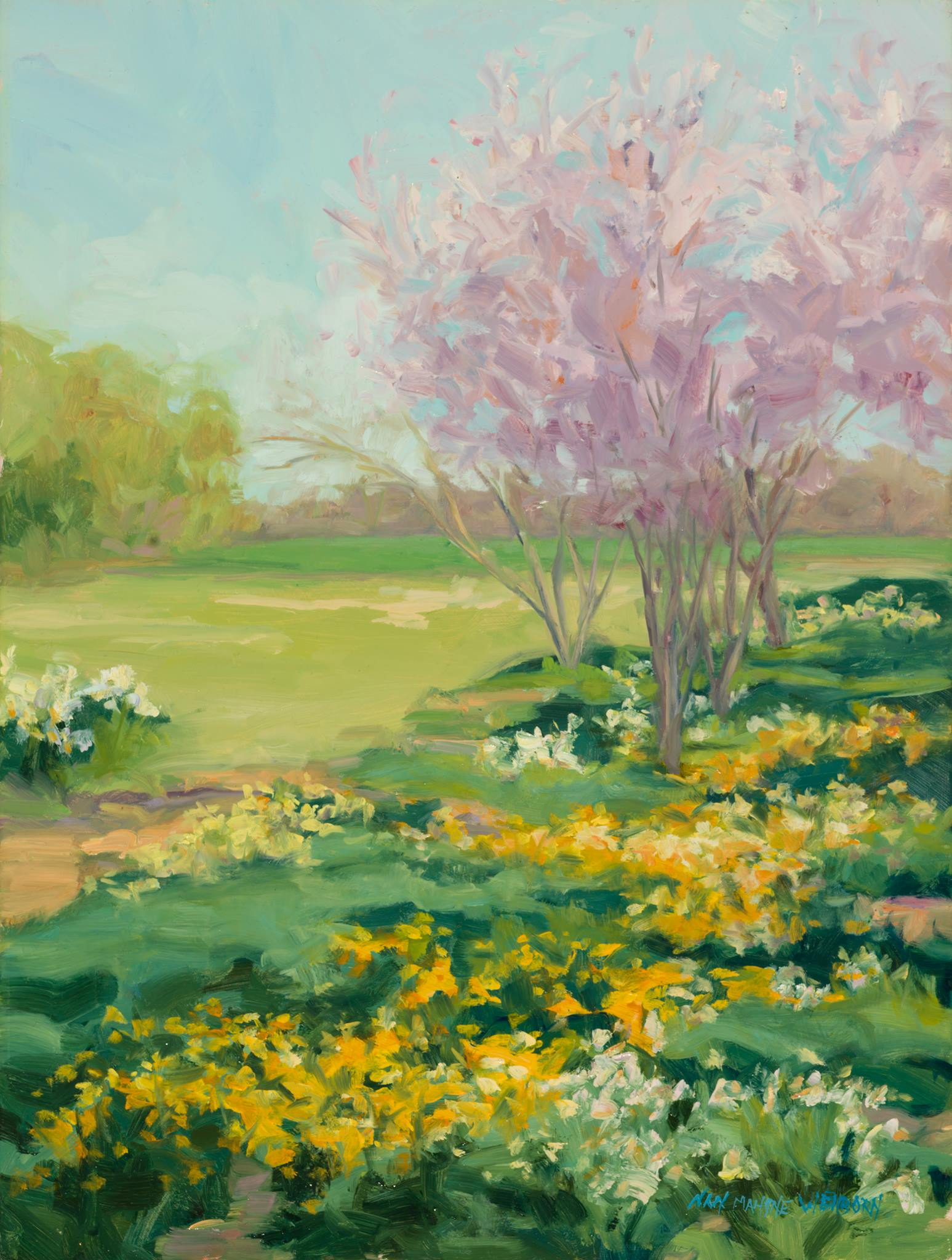 Nan Mahone Wellborn, spring painting