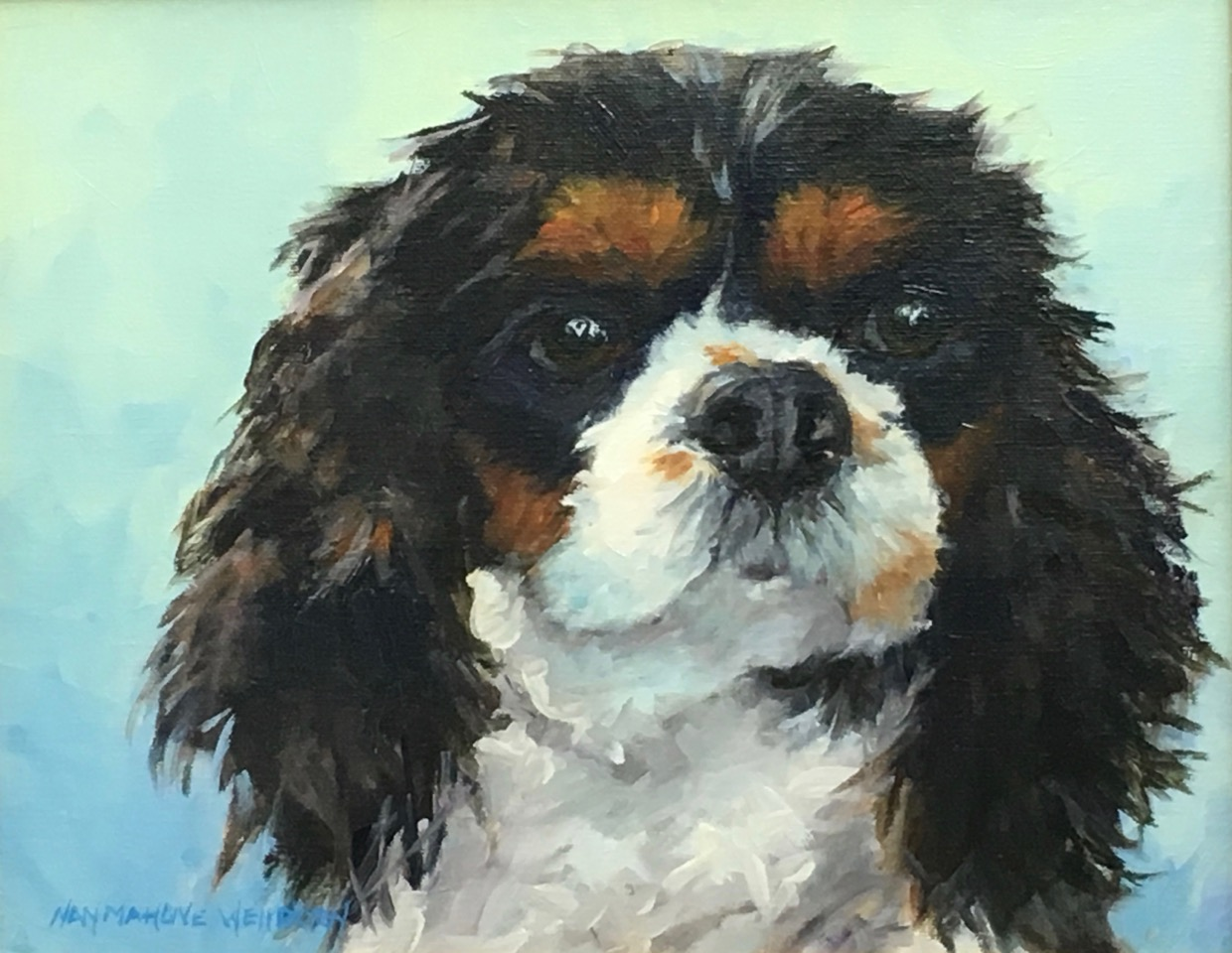 Nan Mahone Wellborn, dog painting