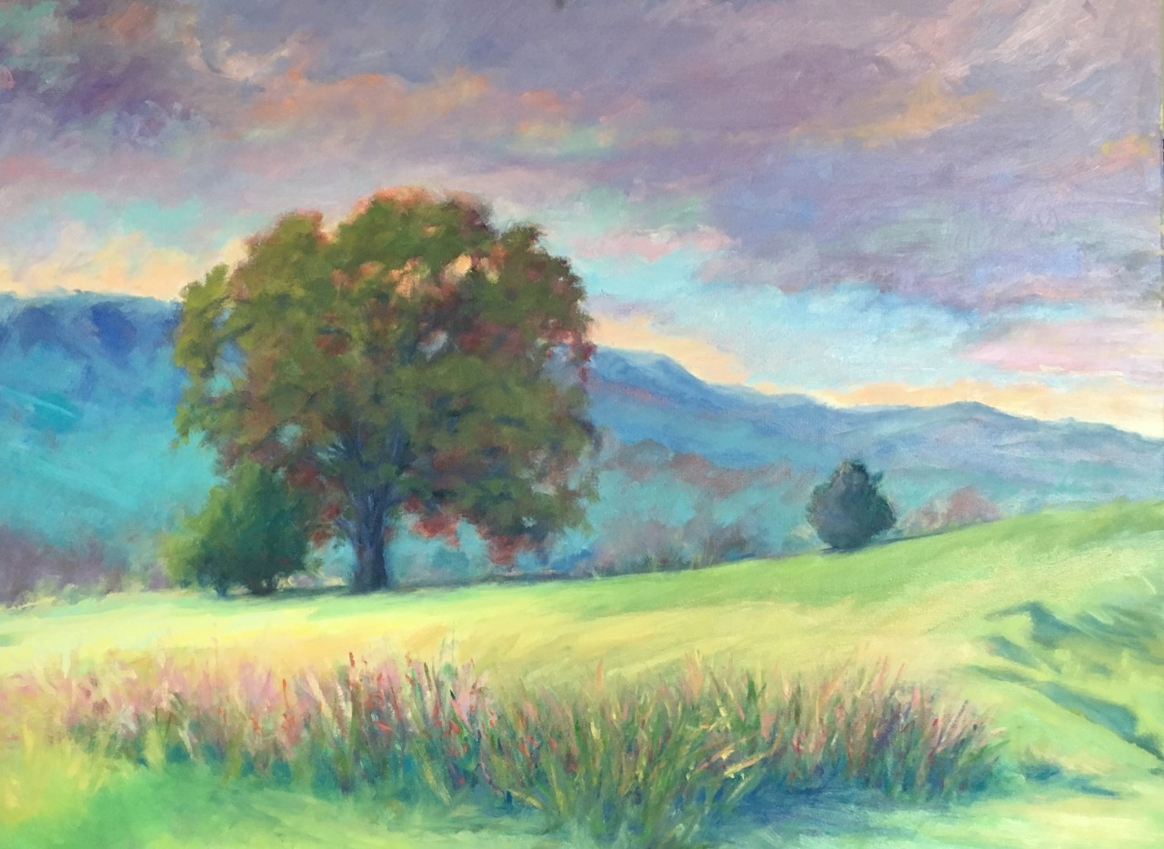 Nan Mahone Wellborn, sunset painting