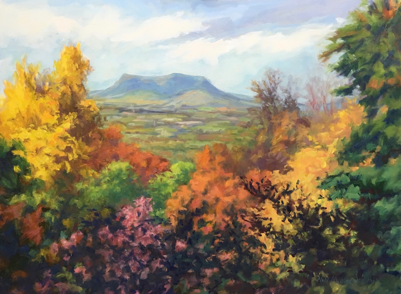 Nan Mahone Wellborn, fall landscape painting