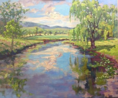 Nan Mahone Wellborn, landscape painting
