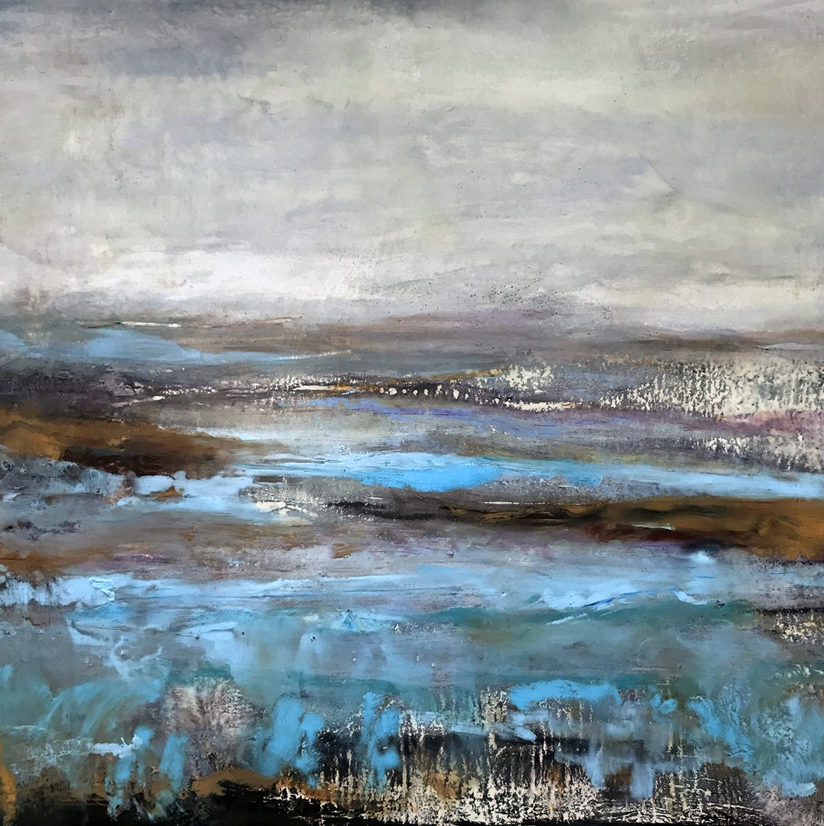 Water's Edge Encaustic